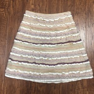 Anthropologie Odille ribbon lace skirt size 8